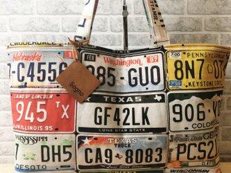 トートバッグ*ナンバープレートBの画像