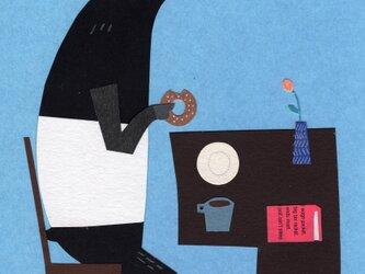 「ドーナツ、大好き」ポストカード 2枚セットの画像