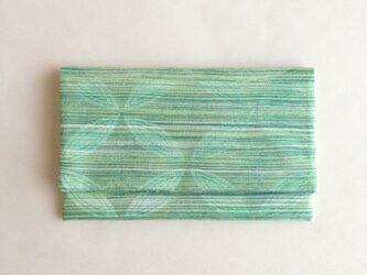 絹手染懐紙入れ(横・渋緑系/縦・薄茶系)の画像