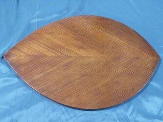 木の葉欅拭漆板膳 289mm×424mm×12mm № IM121の画像