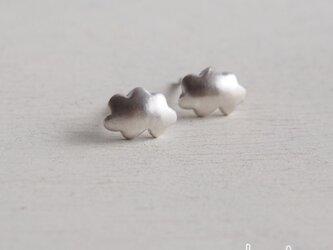 【再販】- Silver - Cloudピアス − nの画像