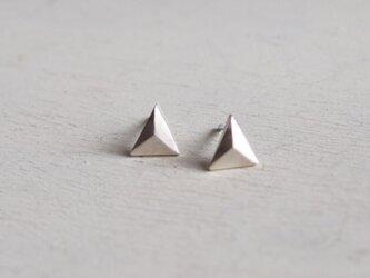 【受注制作】- Silver - Triangleピアスの画像