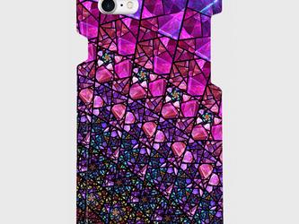 ステンドグラス モチーフ (アメジストパープル) iphone 5/5s/6/6s/SE/7/8/X/XS 専用の画像