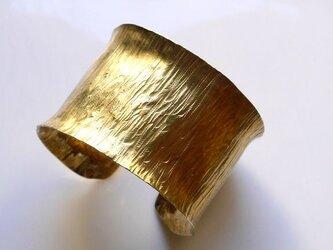 Simple brass bangle(幅40mm)★幅広★ワイド★シンプル★真鍮★バングル★の画像