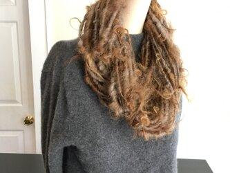 手紡ぎ アートヤーン・ネックレスの画像