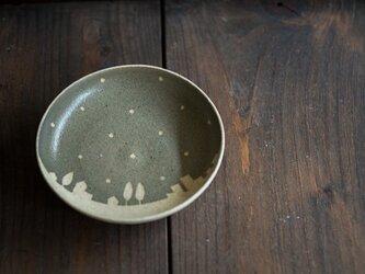 ドットと街の小皿(グリーングレー)の画像
