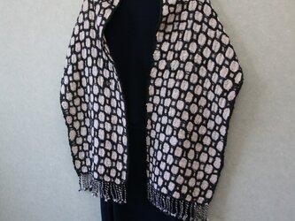 オーガニックコットン手織りショールの画像