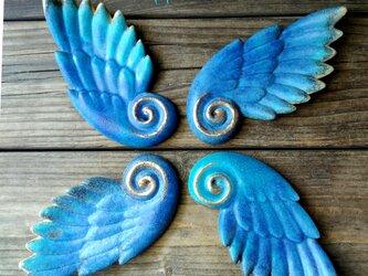 青色の大きな翼 お香立て 再販の画像
