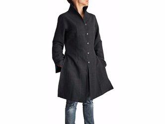 ジョムトン手織り綿オリエンタルコート 黒(JFS-015-01)の画像