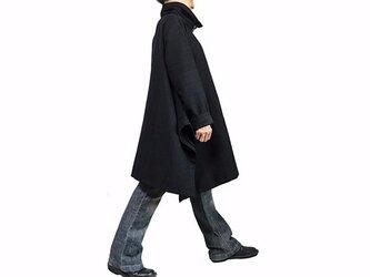 ジョムトン手織り綿ハイネックコー 黒(JRL-003-01)の画像
