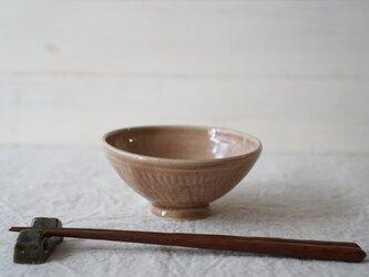 すみれのごはん茶碗 No.1025の画像