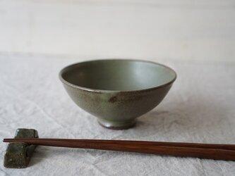 抹茶色のごはん茶碗 No.1026の画像