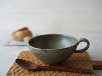 抹茶色のスープカップ No.1028の画像