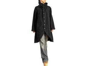 ジョムトン手織り綿のタートルボタンコート 黒(JFS-150-01)の画像
