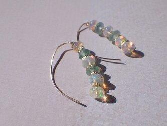 Opal & Romanglass キャタピラーピアス 14Kgfの画像
