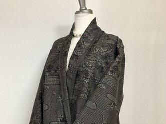 大島紬 ライト コーディガン 着物リメイク ① M〜Lの画像
