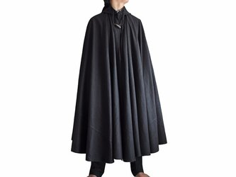 ヘンプの袈裟マント 黒 Lサイズ(JFS-058-01L)の画像