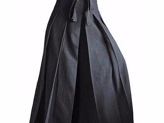 ジョムトン手織り綿の袴パンツ 黒 Mサイズ(PFS-026-01M)の画像