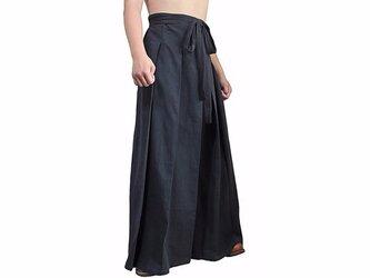 ジョムトン手織り綿の袴パンツ 黒 XLサイズ(PFS-026-01XL)の画像
