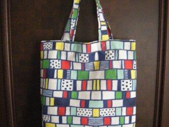 トートバッグ 「ネイビー ブロック」の画像