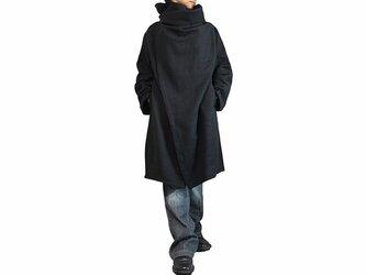 ジョムトン手織り綿コサックコート 黒 Lサイズ(JFS-145-01L)の画像