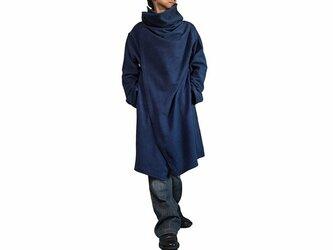 ジョムトン手織り綿コサックコート インディゴ紺 Mサイズ(JFS-145-03M)の画像