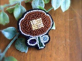 オートクチュール刺繍ブローチ お花のfukudaさんの画像