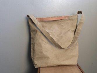 ■ nori. 帆布ショルダートート バッグ サンドベージュの画像