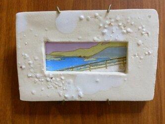 陶額入日本画 風景の画像