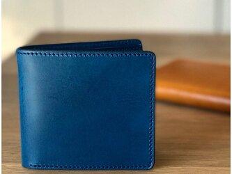 *イタリアンレザーブッテーロのハーフウォレット 二つ折り財布の画像