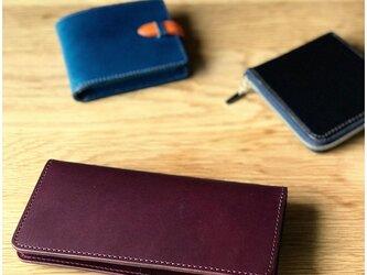 *イタリアンレザーブッテーロの2つ折り長財布 ロングウォレットの画像