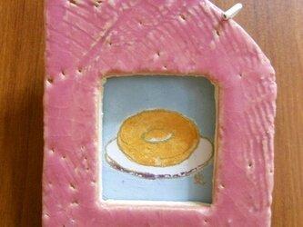 陶額入日本画 ドーナツの画像