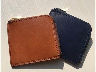 イタリアンレザーブッテーロのL字ファスナーミニウォレット ミニ財布の画像