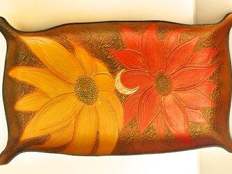 レザーキャッシュトレイ ~花々の祝福~ の画像