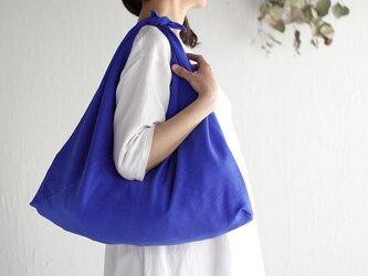 リネン あづま袋 L 65cm ショルダータイプ (ロイヤルブルー)の画像
