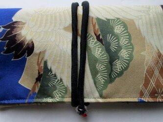 送料無料 お宮参り着で作った和風財布・ポーチ 3858の画像