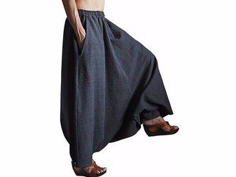 ジョムトン手織綿の埴輪型スカート 墨黒 (SFS-017-01)の画像
