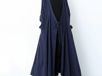 (再販×3)コットンリネン ゆったり ギャザー ロングコート ♪オーダーサイズ可の画像