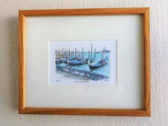 アドリア海とゴンドラ(フレーム付き)の画像