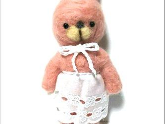 ピンク色のウサギさんの画像