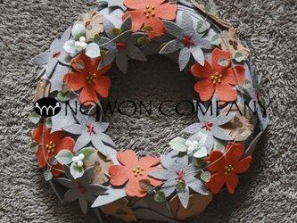 〜メリノウール100%のフェルトを使用したwool wreathシリーズ〜の画像