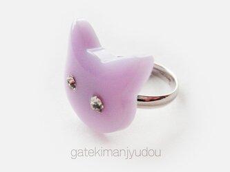 ネコの指輪/パープルの画像