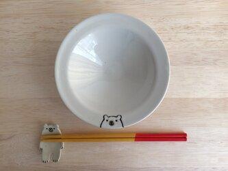 リム皿(シロクマ)の画像