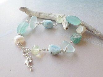 Seaside Gem Bracelet*ドルフィン*sv925*の画像