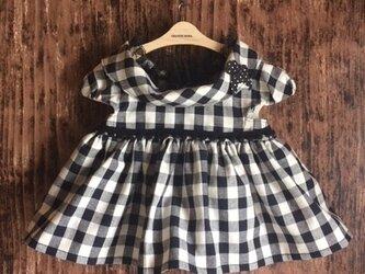 ダッフィーサイズのお洋服 ギンガムワンピース(プードル)の画像