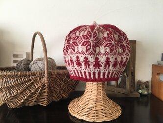 北欧トラディショナルベレー帽 【ルージュ】の画像