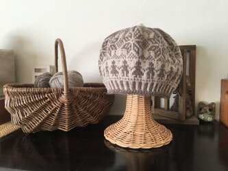 北欧トラディショナルベレー帽 【マロンブラン】の画像