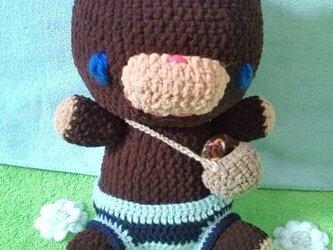 くまっこ編みぐるみの画像