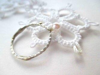 【あこや真珠シルバーリング 1】の画像