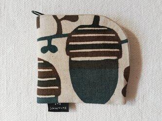 型染め 財布「どんぐりの森」の画像